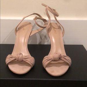 ALDO Nude Ankle Strap Sandals